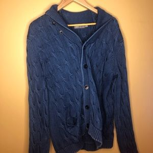 VINCE navy blue knit cardigan XXL